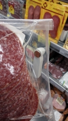 """Магнитные бирки на колбасе в """"Перекресток"""""""