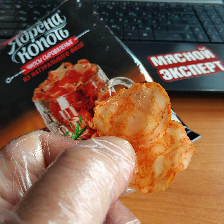 """Новый вкус и текстура сыровяленных чипсов от """"Ядрена Копоть"""" (Abi)."""